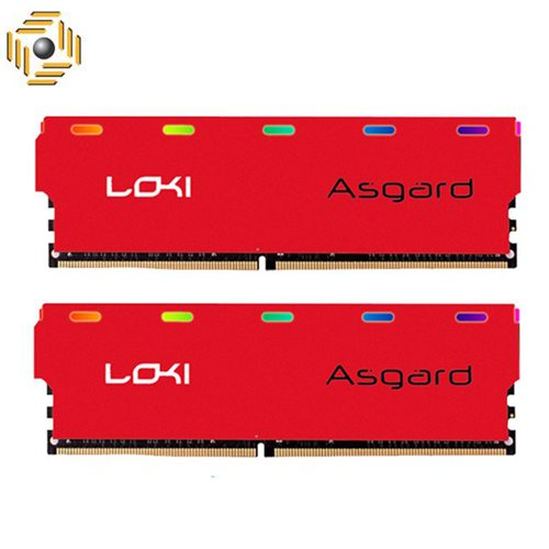 رم ازگارد LOKI W1 DDR4 16GB (2x8GB) 3000MHZ RGB RED